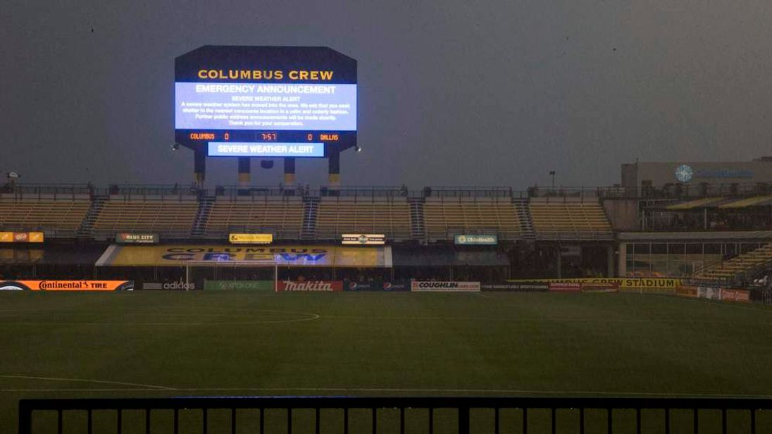 Match abandoned after fan hit by lightning