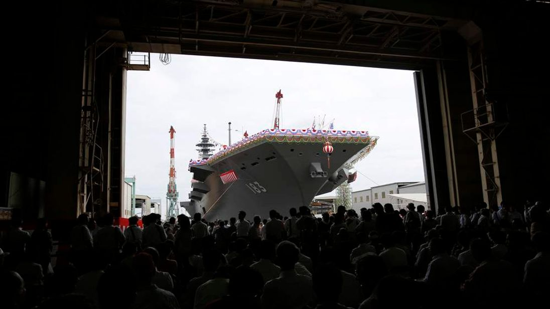 Japanlaunches helicopter destroyer Izumo
