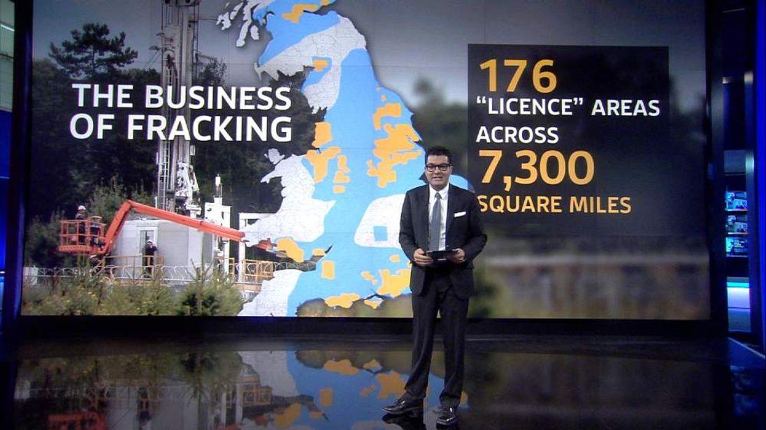 Ashish Joshi explaining the Business of Fracking