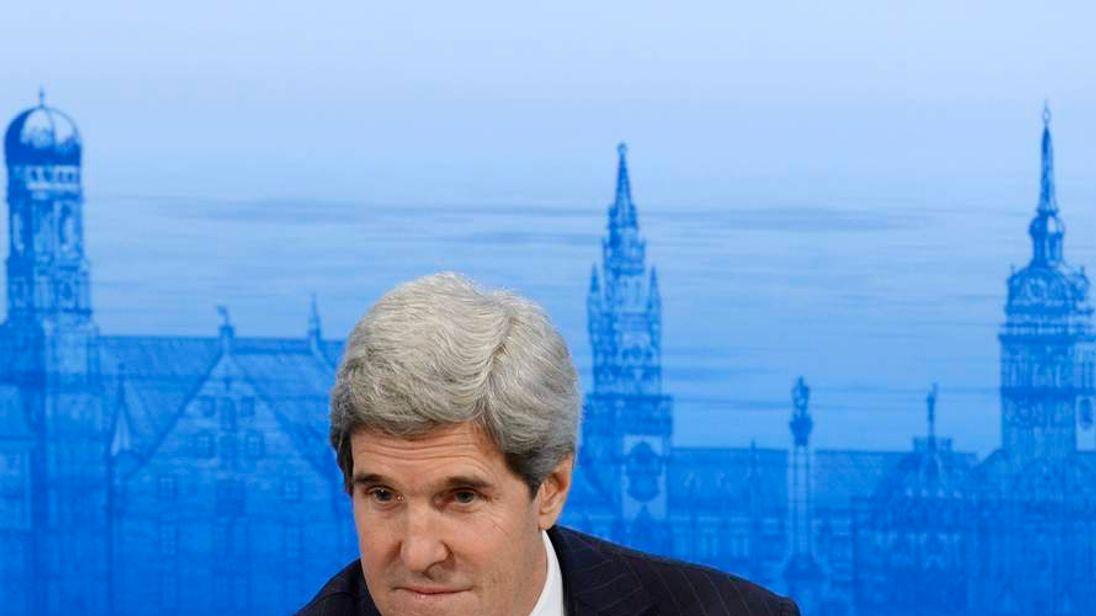John Kerry at a recent diplomatic event
