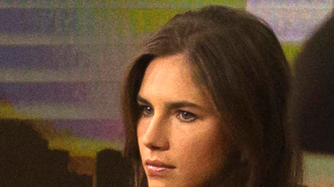 "Amanda Knox looks on before speaking on NBC News' ""Today"" show in New York"