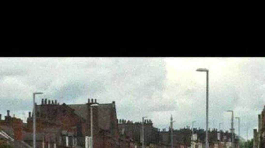 Scene photo of knife attack in Leeds