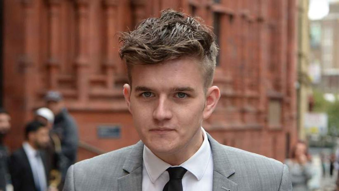 Lee Jezard leaving Birmingham Magistrates Court