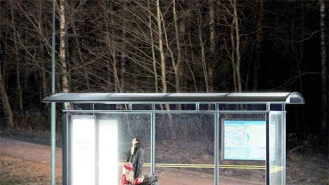 Light therepy bus stop