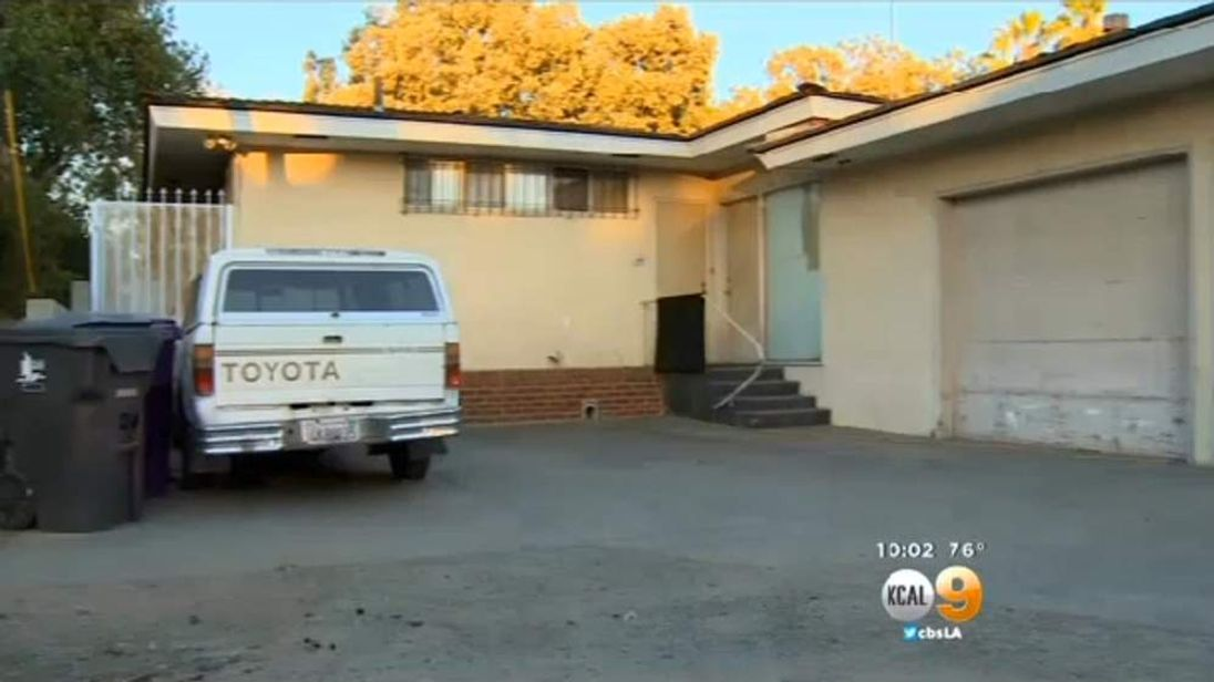 Tom Greer shot the female intruder in the alley behind his home. Pic: KCAL-TV