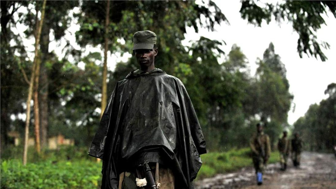 M23 soldiers in the Democratic Republic of Congo's restive east