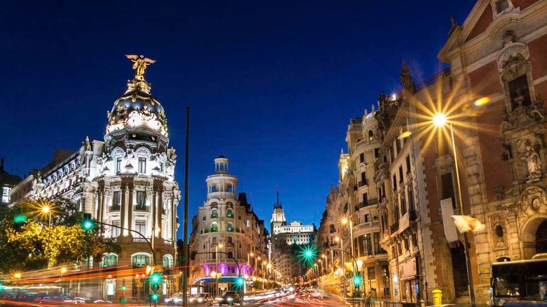 Gran Via in Madrid