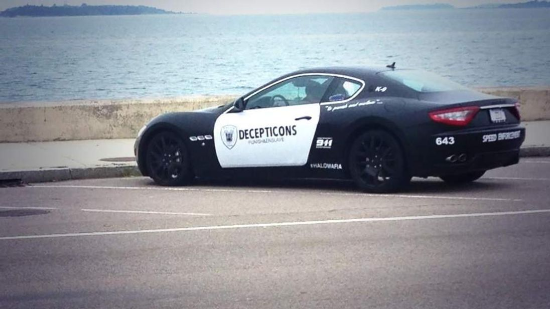 Maserati 'police cruiser' in Quincy, Massachusetts. Pic: Eric Clark