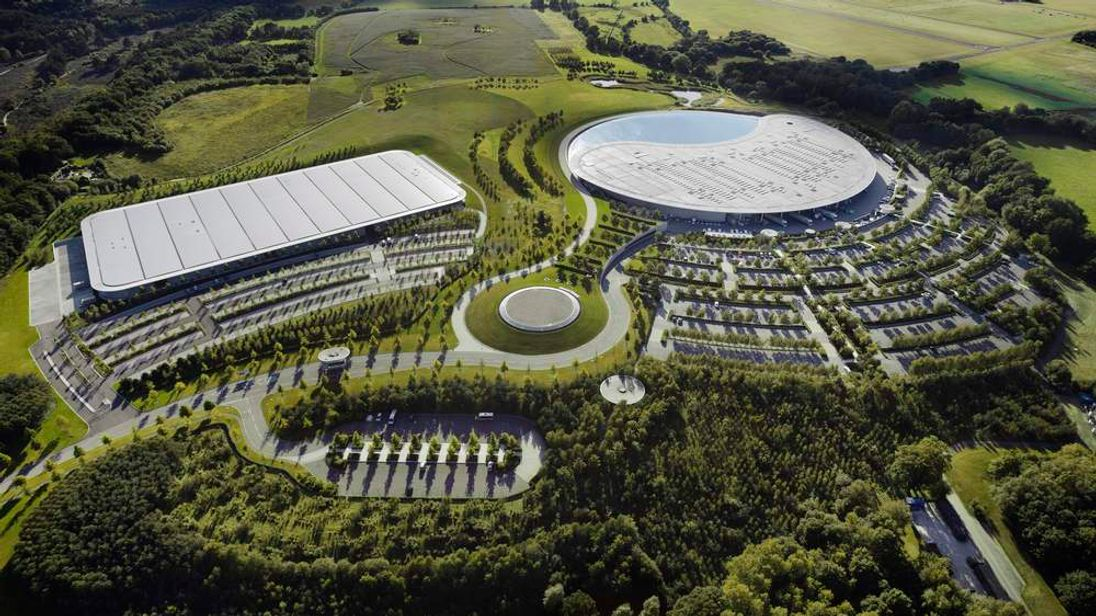 McLaren Production Centre (left) and McLaren Technology Centre (right)