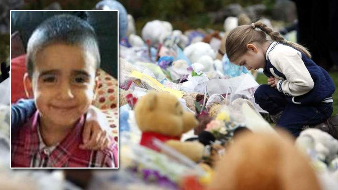 Floral tributes to murdered three-year-old Mikaeel Kular
