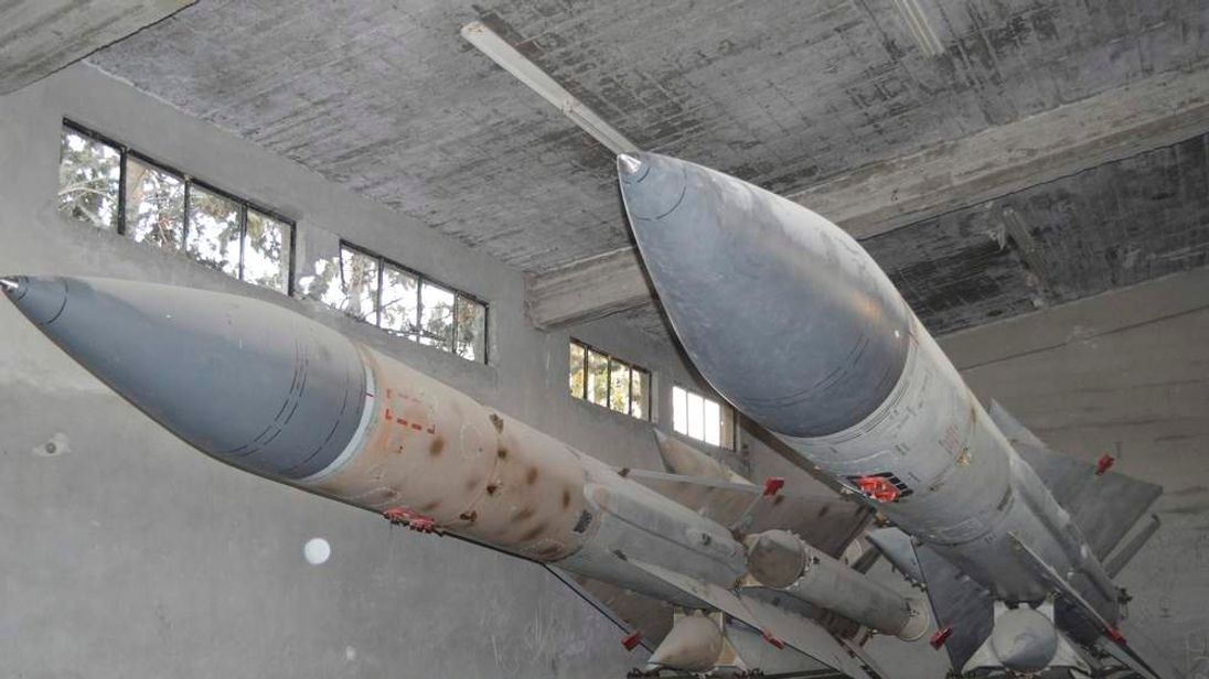 Missiles at an air base in Syria