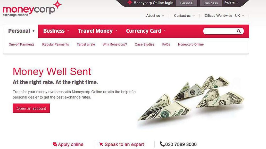 Moneycorp Website