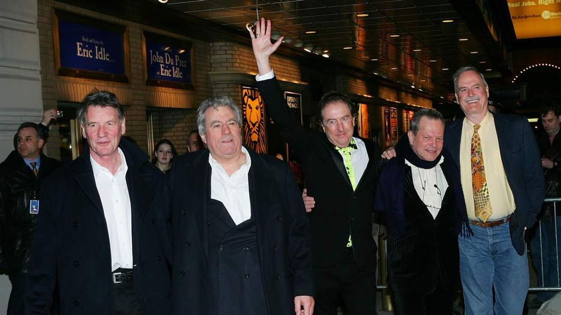 The surviving Pythongs at the opening night of Monty Python's Spamalot in New York in 2005