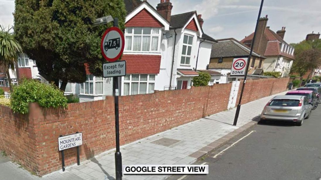 The street where two boys were stabbed by people on mopeds