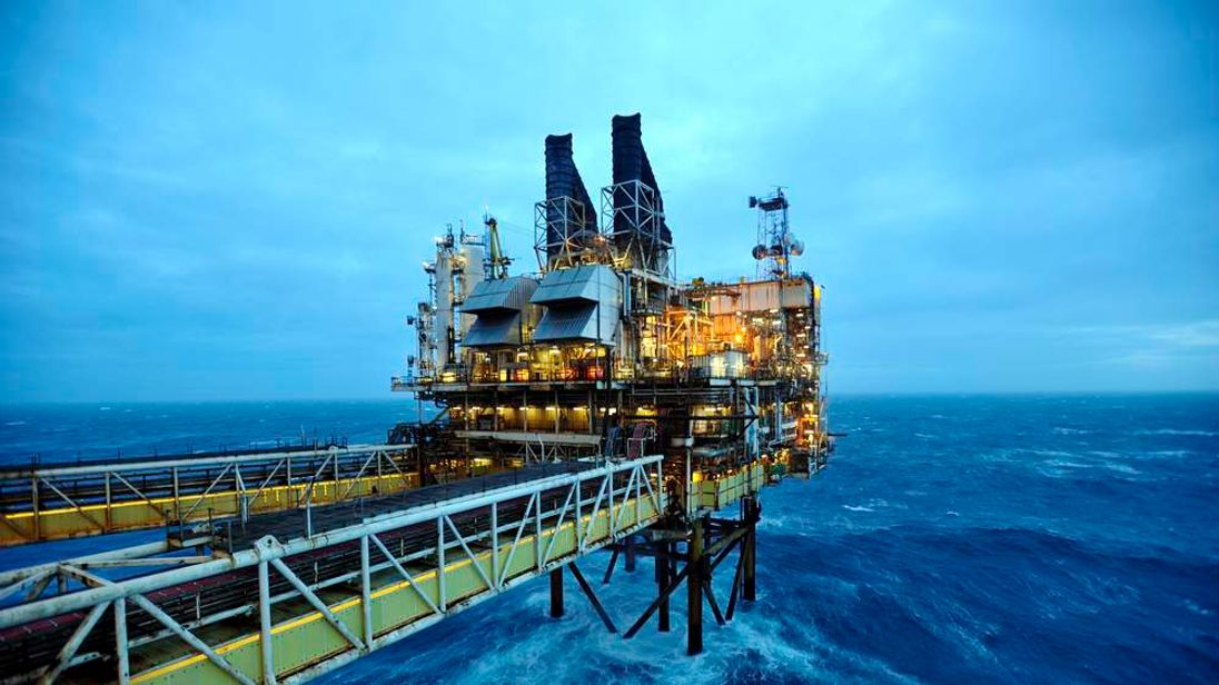 A general view of the BP ETAP (Eastern Trough Area Project) oil platform in the North Sea