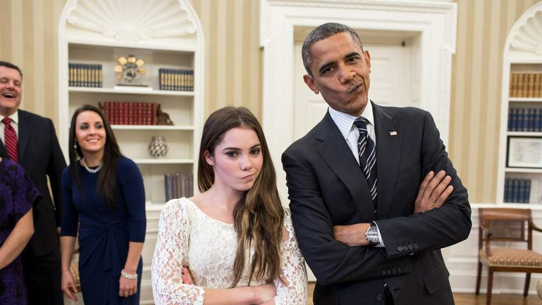 McKayla Maroney and Barack Obama (photo: The White House/Pete Souza)