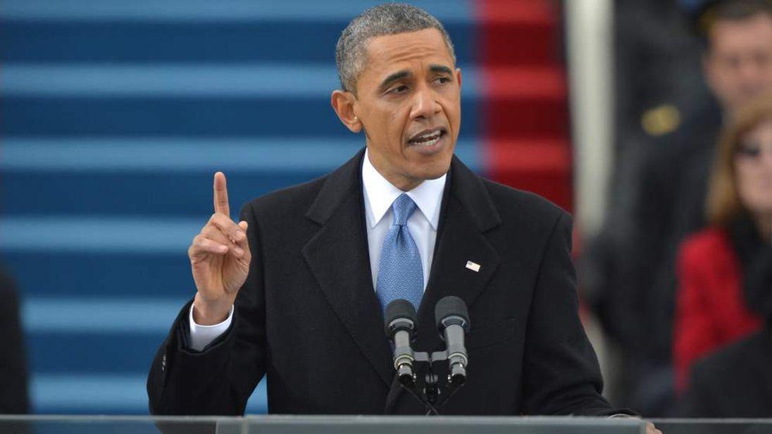 Barack Obama during his speech.