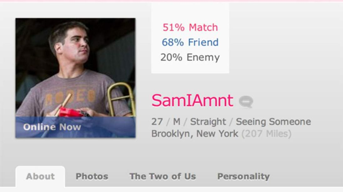 OKCupid profile of Nadav Nirenberg