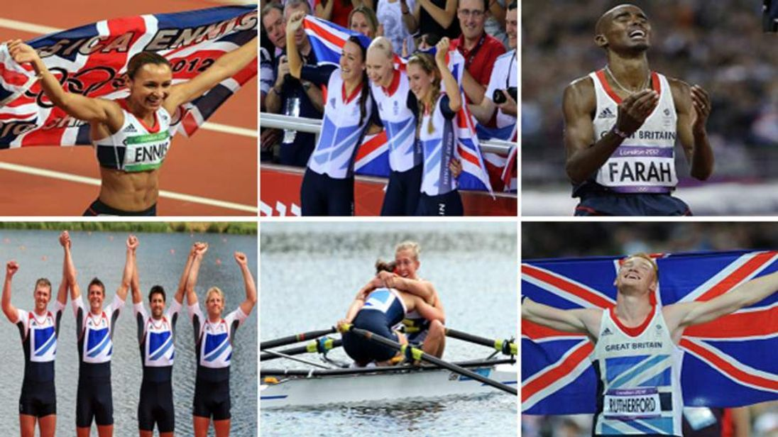 Composite Team GB Gold Medal Winners Day 8 Olympics