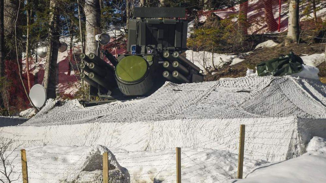 A Pantsir-S short-range air defense system used at the Sochi Olympics