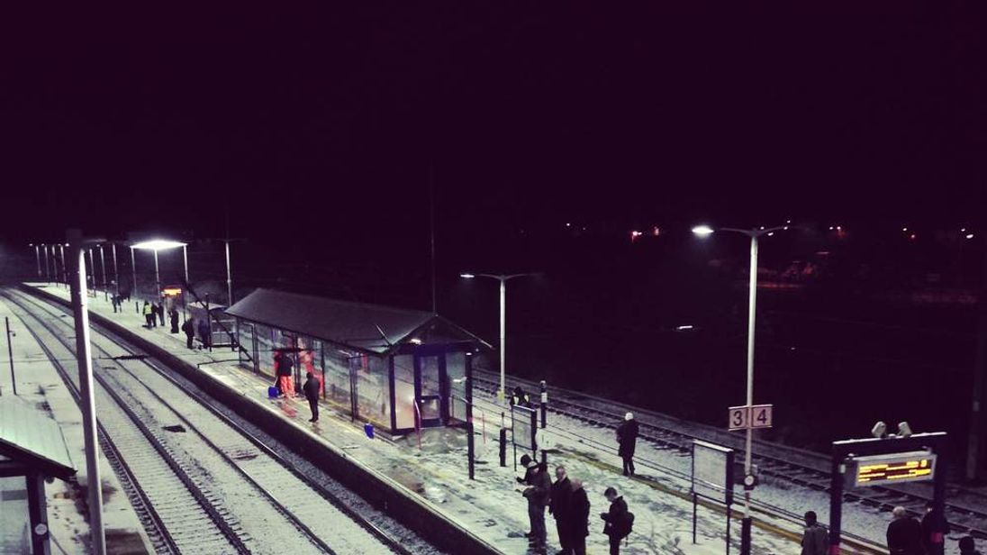 Steve Fanstone took this photo, showing commuters at St Neots station in Cambridgeshire just before 7am