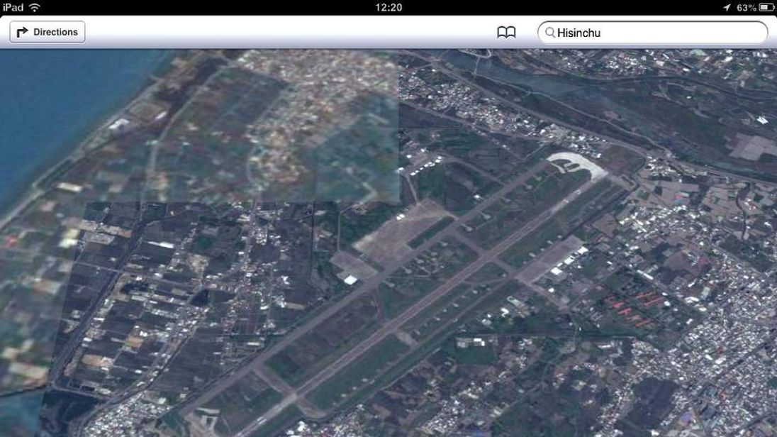 Secret Taiwanese military base uncovered by Apple mapping app
