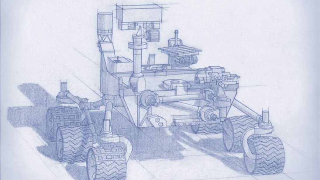 An artist's impression of Nasa's 2020 Mars rover
