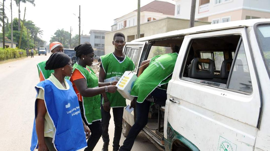 Polio health workers in Nigeria