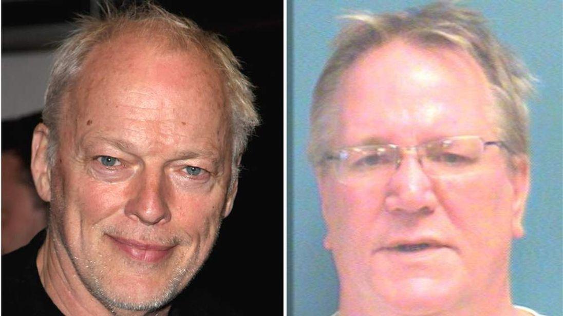 David Gilmour and alleged poser Phillip Michael Schaeffe