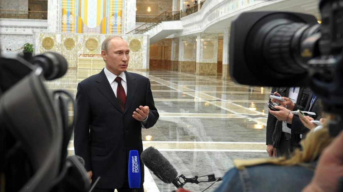 Russian President Putin Attends Summit In Belarus