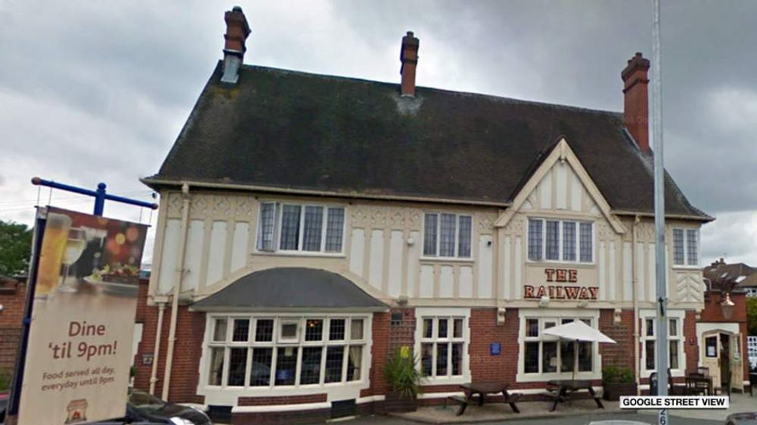 The Railway Hotel in Hornchurch, northeast London. (Photo: Google Street View)