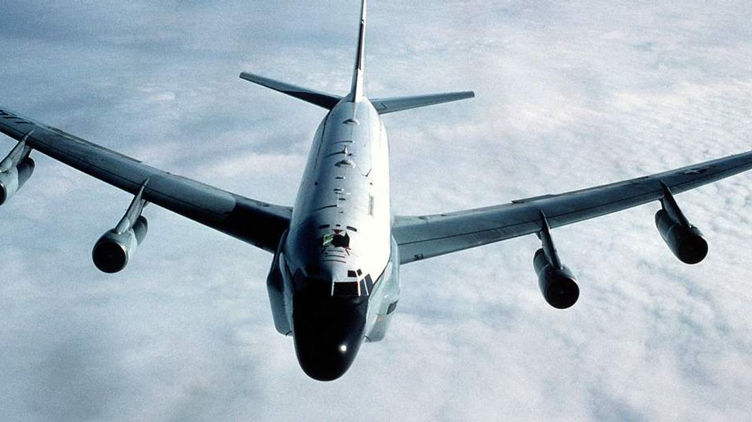 RC-135 reconnaissance plane