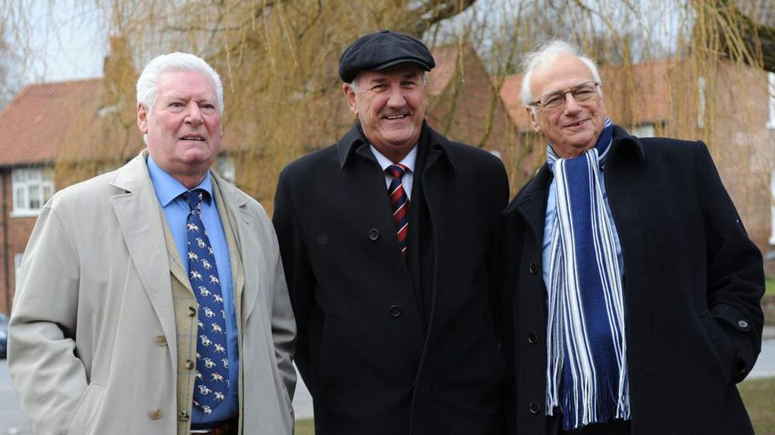 Roy Walker, Russ Abbot and Roy Hudd (L-R)