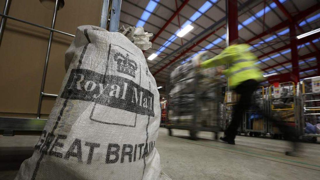 Royal Mail Bag At Sorting Centre