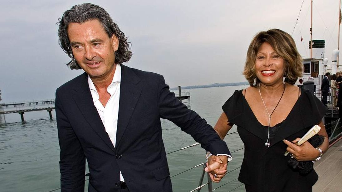 Singer Tina Turner and her long-term German partner Erwin Bach