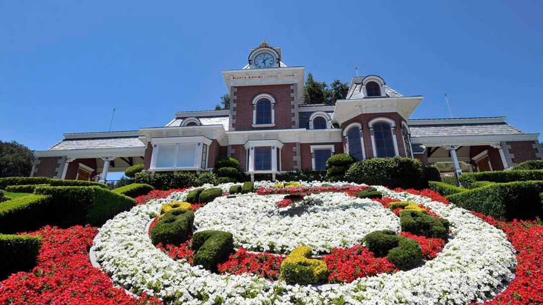 A general view of the train station at Michael Jackson's Neverland Ranch in Los Olivos