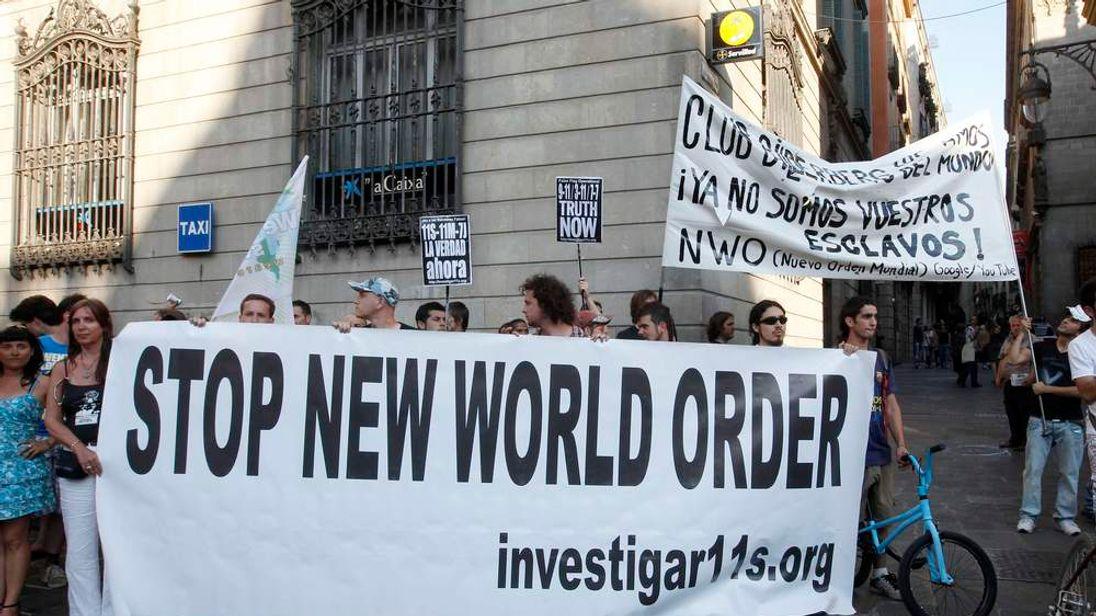 Protesters at the 2010 Bilderberg meeting in Barcelona
