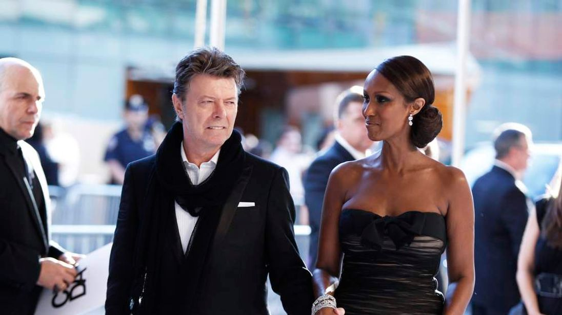 Singer Bowie arrives to attend the CFDA fashion awards in New York