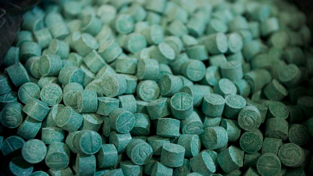 Ecstasy tablets seized at the Belem International Airport are seen in the Brazilian Federal Revenue office in Belem