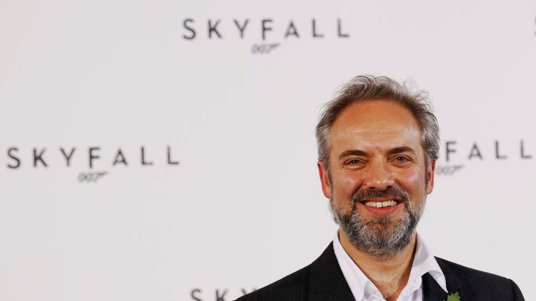 "Director Sam Mendes poses while launching the start of production of the new James Bond film ""SkyFall"" at a restaurant in London"