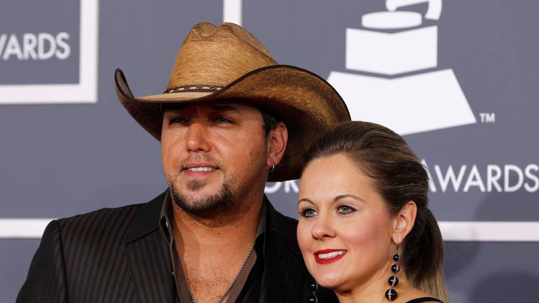 Country singer Jason Aldean and his wife Jessisa Ussery