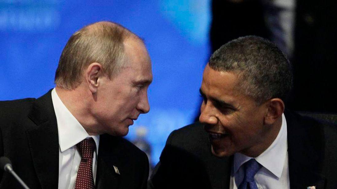 Barack Obama and Vladimir Putin.