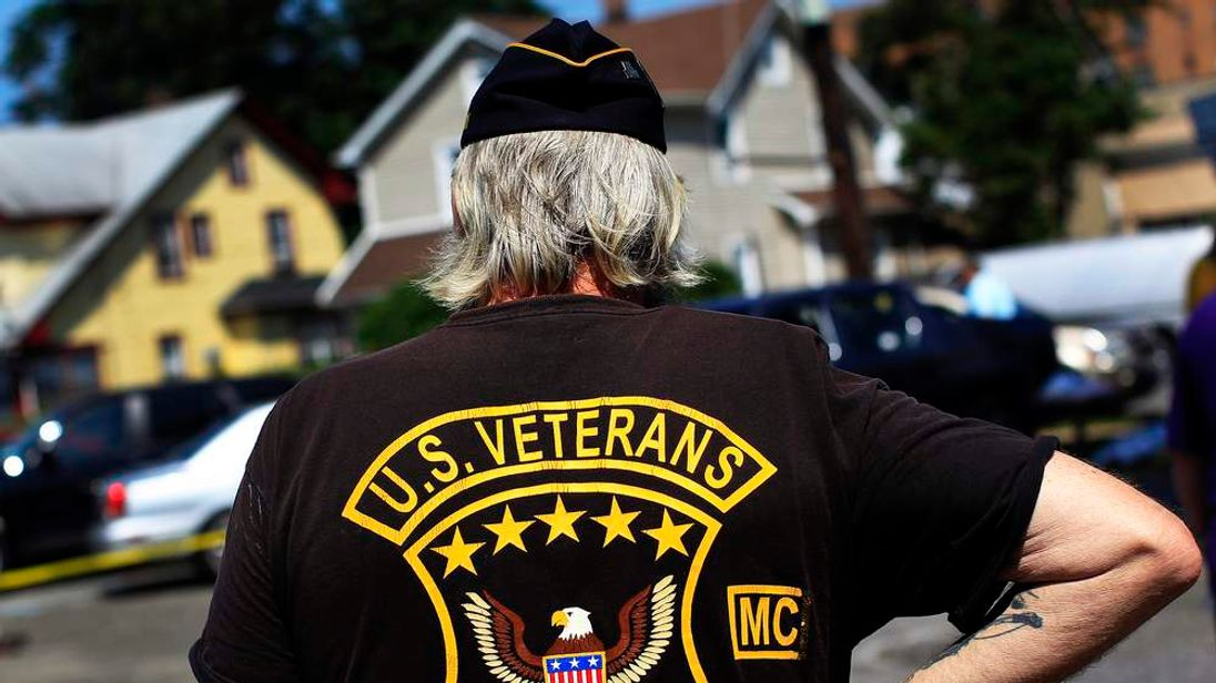Glenn Stubing, a Vietnam War veteran, is seen during Veteran Stand Down event in Hempstead, New York