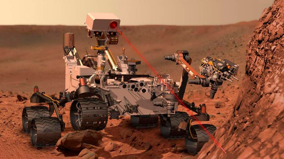 Artist's Concept Of Nasa Rover Curiosity