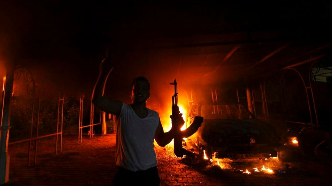 Protester Outside US Consulate In Benghazi