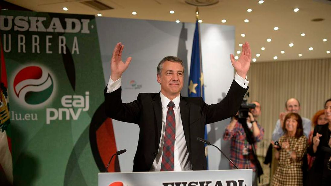 Inigo Urkullu, president of PNV, at Spanish regional elections