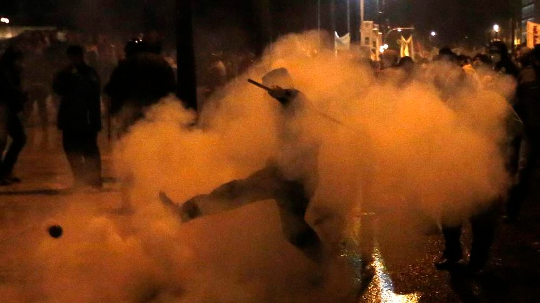 Greek riots at austerity measures