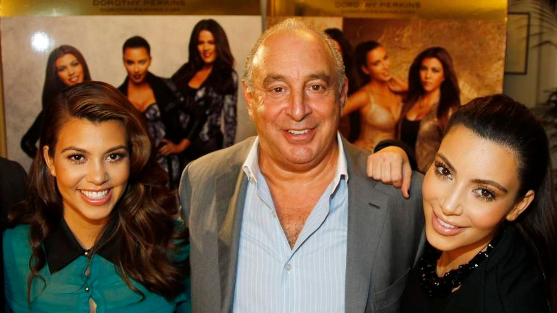 Philip Green With Kourtney and Kim Kardashian