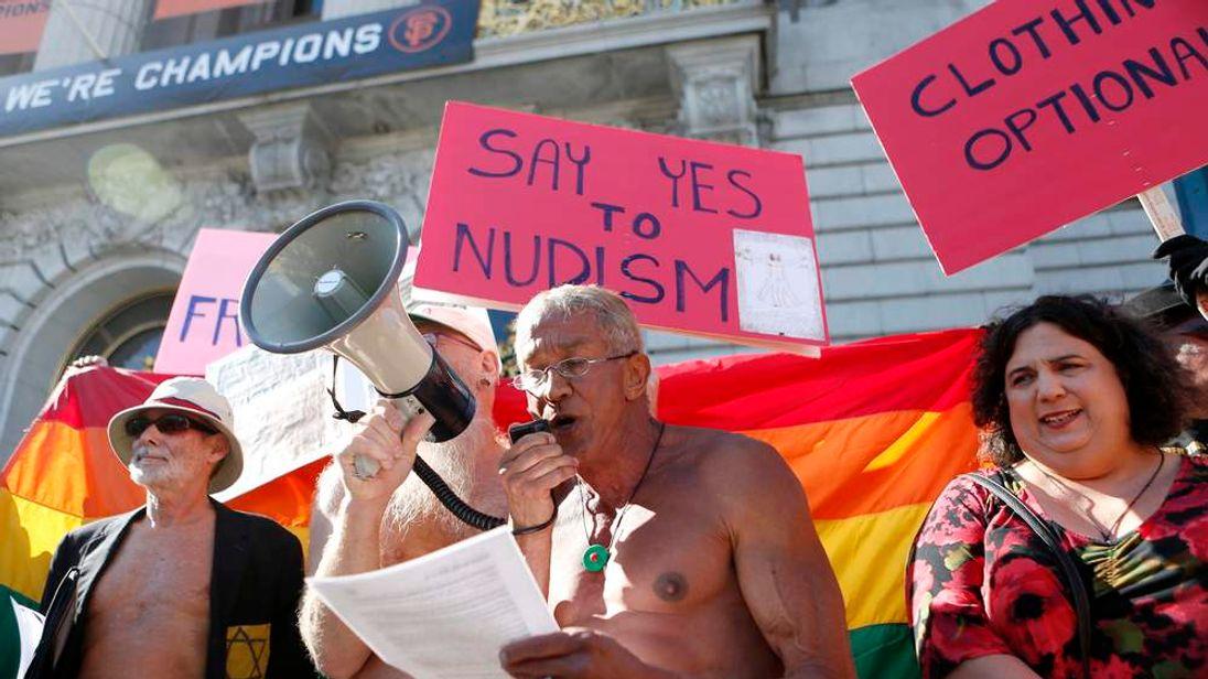 Nudism protest San Francisco