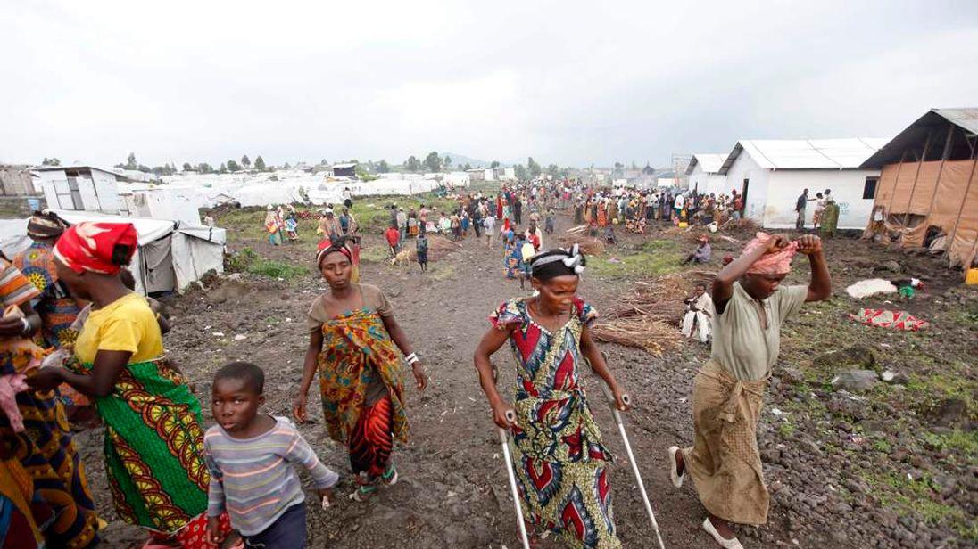 Mugunga camp, near Goma in the Congo